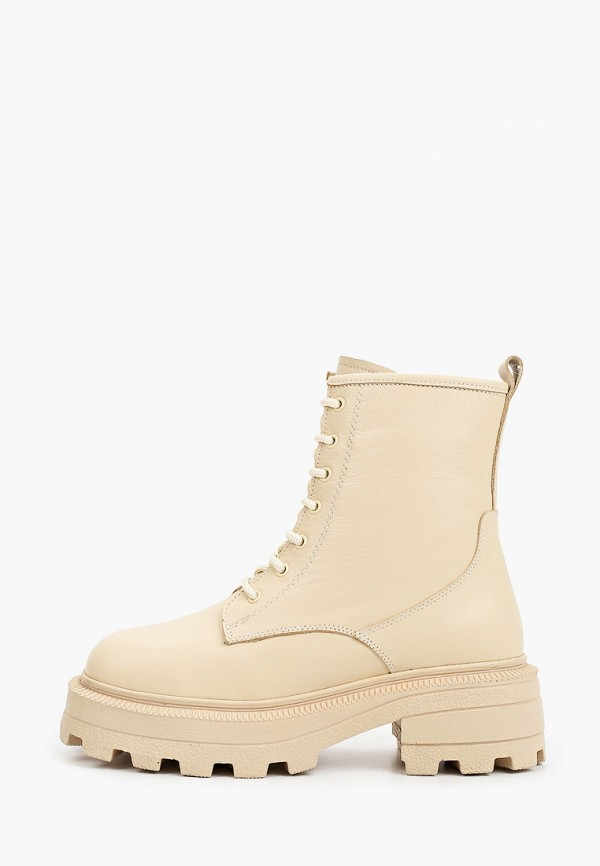 женские высокие ботинки emanuele gelmetti, бежевые