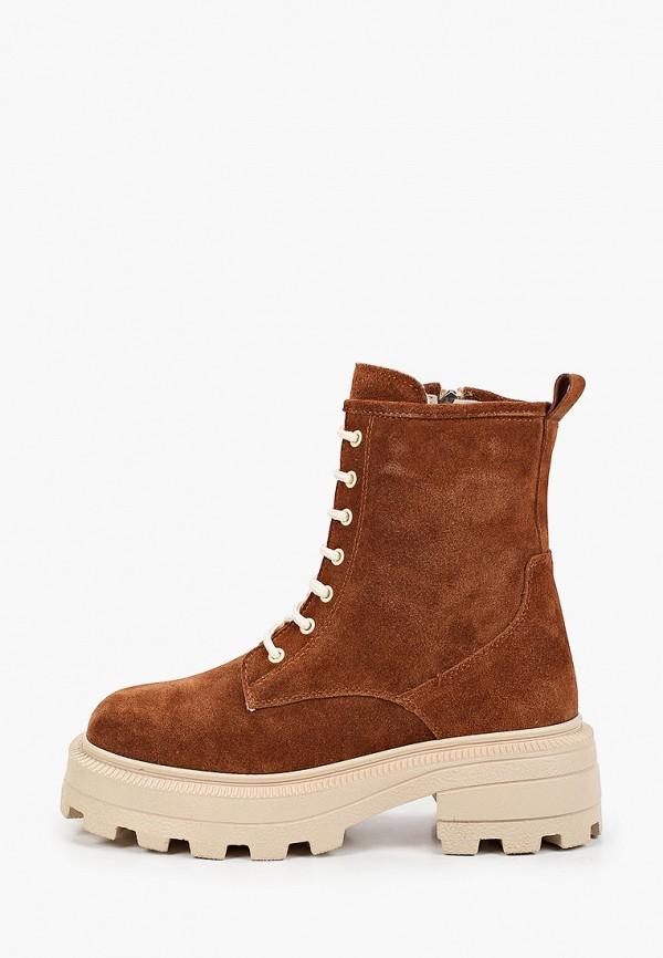 женские высокие ботинки emanuele gelmetti, коричневые