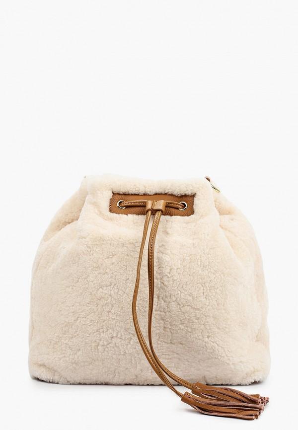 женская сумка через плечо mascotte, бежевая