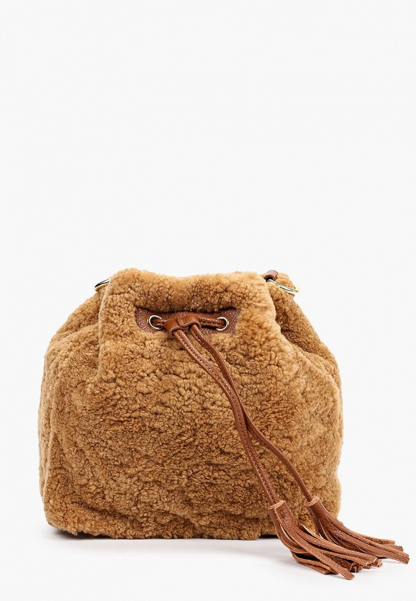 женская сумка через плечо mascotte, коричневая