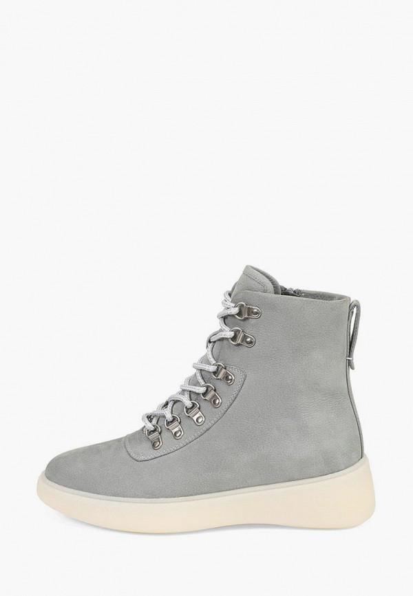 женские высокие ботинки ekonika, серые