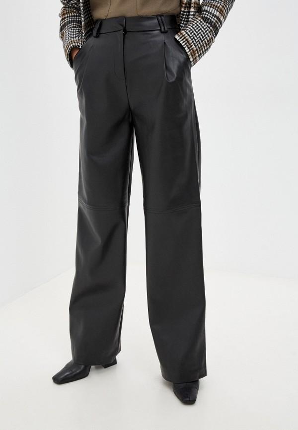 женские кожаные брюки love republic, черные