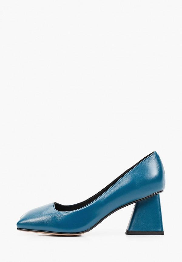 женские туфли с закрытым носом ivolga, бирюзовые