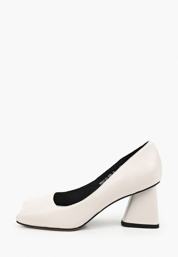 женские туфли с закрытым носом ivolga, белые
