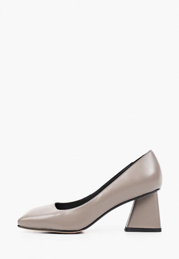 женские туфли с закрытым носом ivolga, серые