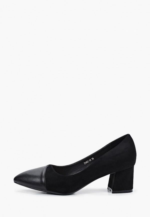 женские туфли с закрытым носом makfly, черные