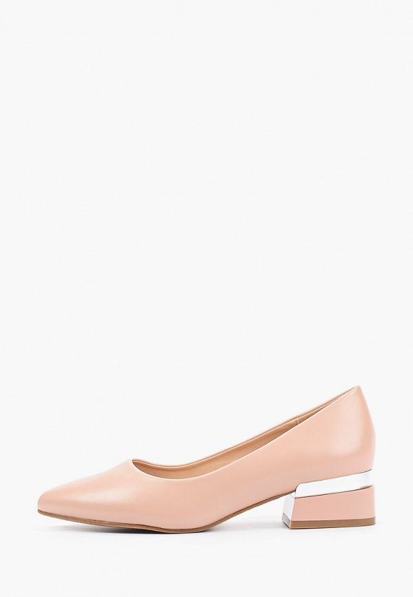 женские туфли с закрытым носом makfly, розовые