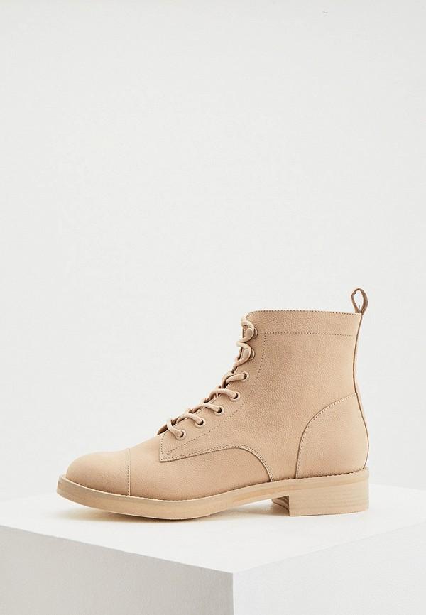 женские высокие ботинки 12storeez, бежевые