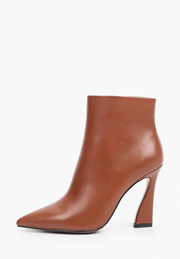 женские высокие ботильоны basconi, коричневые