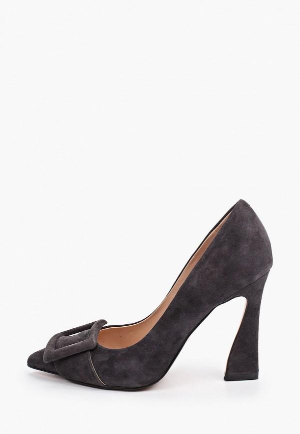 женские туфли-лодочки basconi, серые