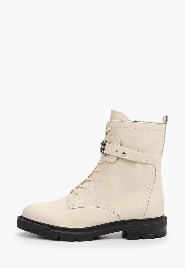 женские высокие ботинки basconi, бежевые