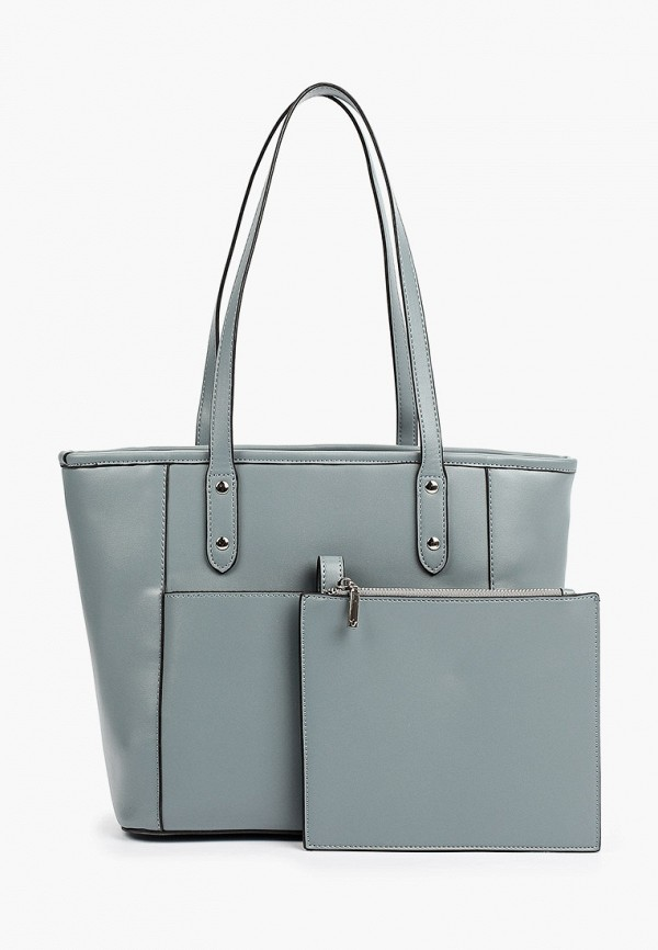 женская сумка с ручками снежная королева, серая