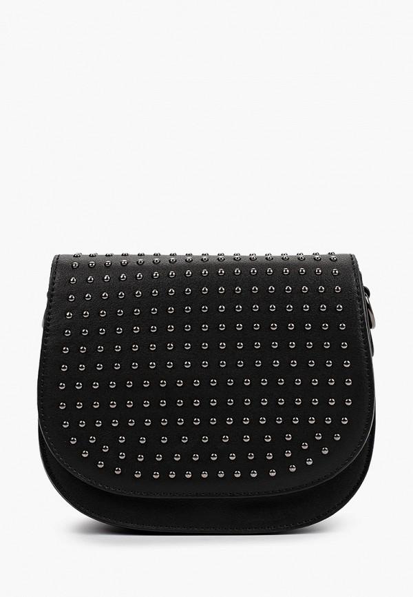 женская сумка через плечо снежная королева, черная