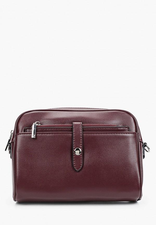 женская сумка через плечо снежная королева, бордовая