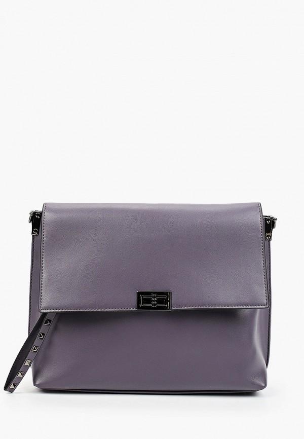 женская сумка через плечо снежная королева, фиолетовая