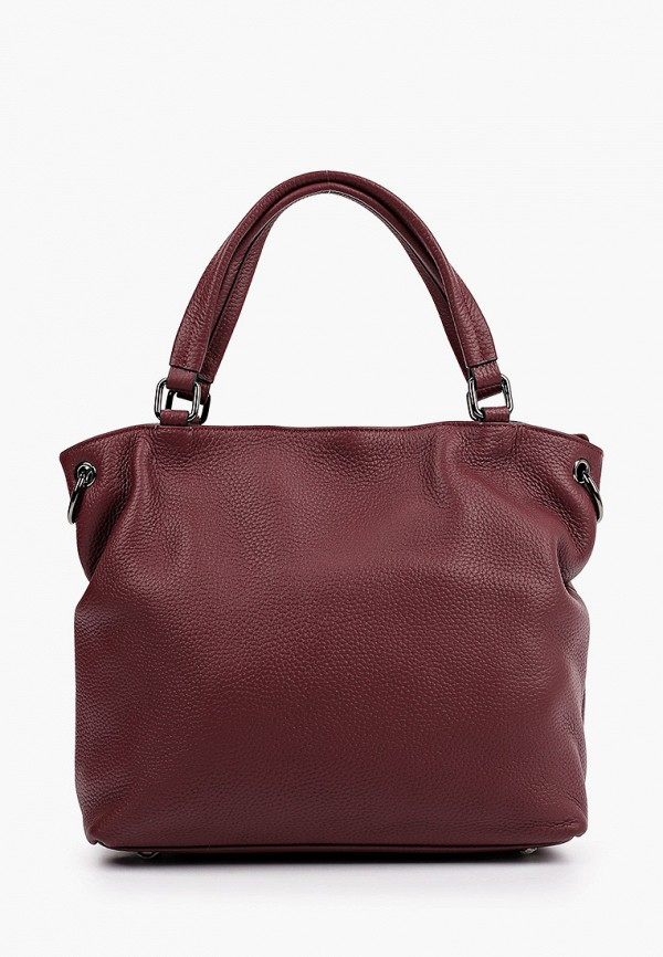женская сумка с ручками снежная королева, бордовая