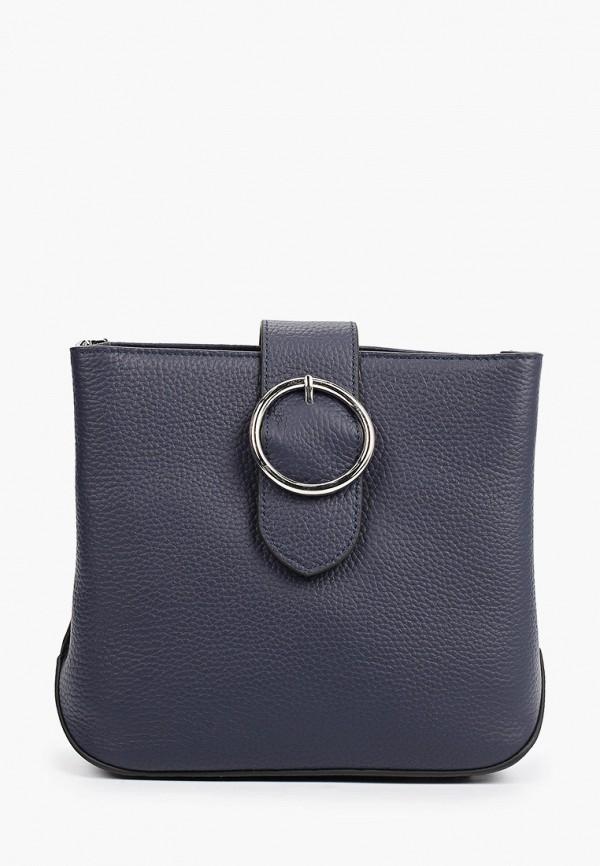 женская сумка через плечо снежная королева, синяя