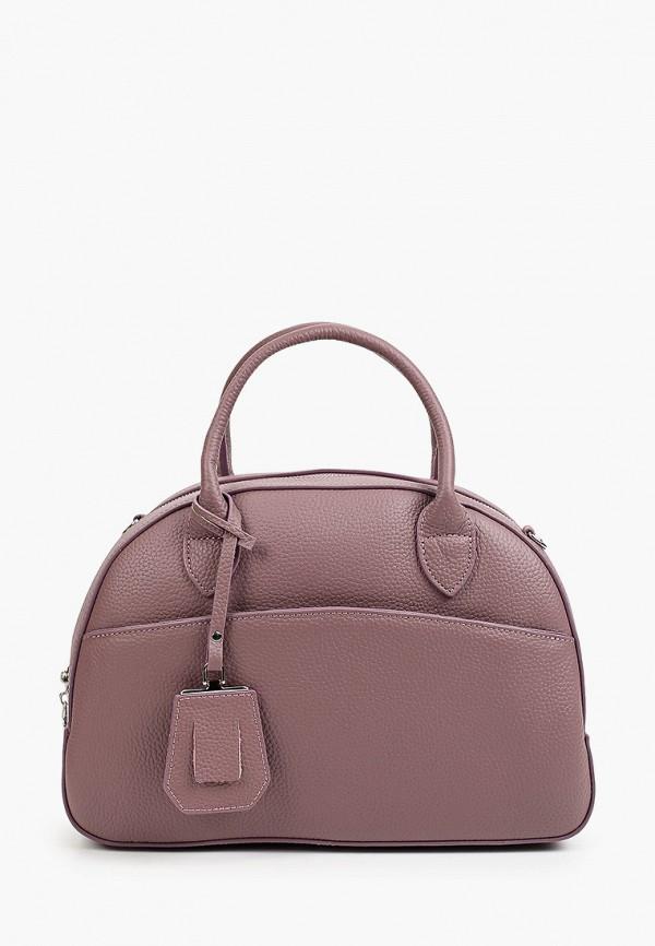 женская сумка с ручками снежная королева, фиолетовая