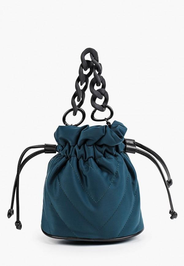 женская сумка с ручками снежная королева, бирюзовая
