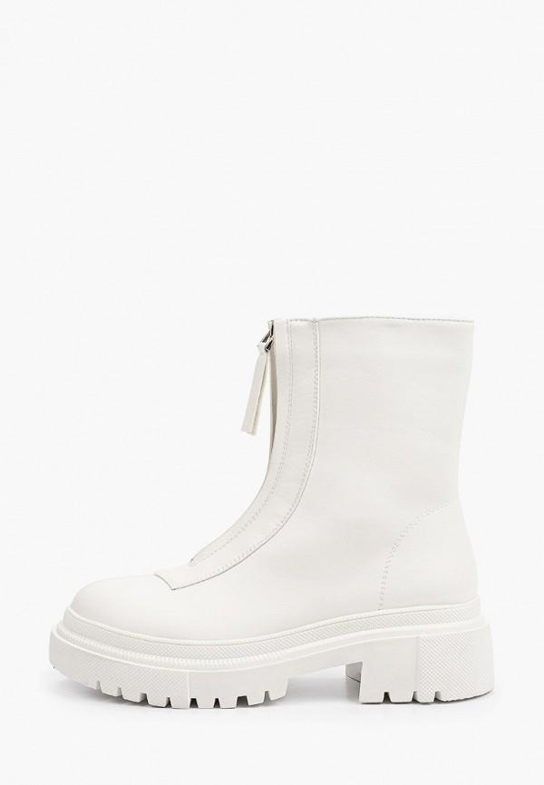 женские высокие ботинки may vian, белые