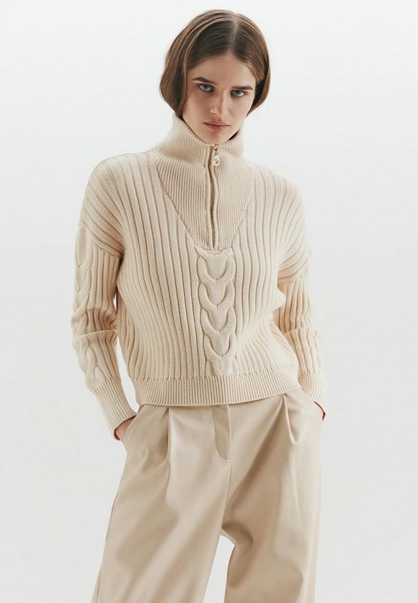 женский свитер love republic, бежевый