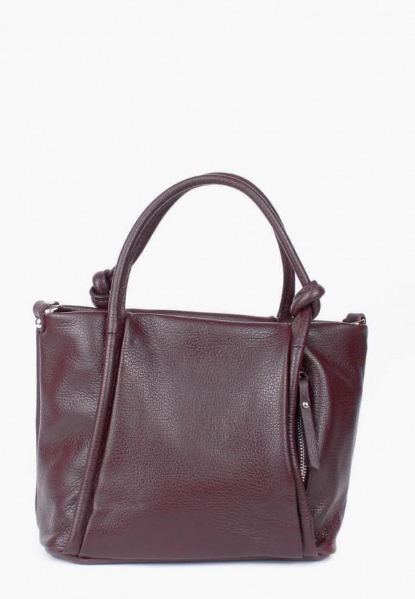 женская сумка bella bertucci, бордовая