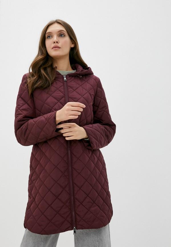 женская утепленные куртка baon, бордовая