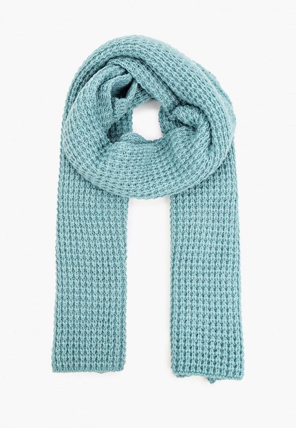 женский шарф baon, бирюзовый
