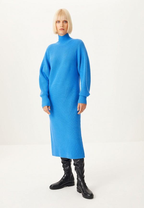 женское платье-свитеры sela, синее
