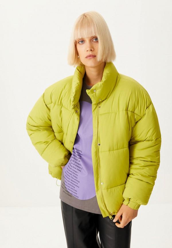 женская утепленные куртка sela, зеленая
