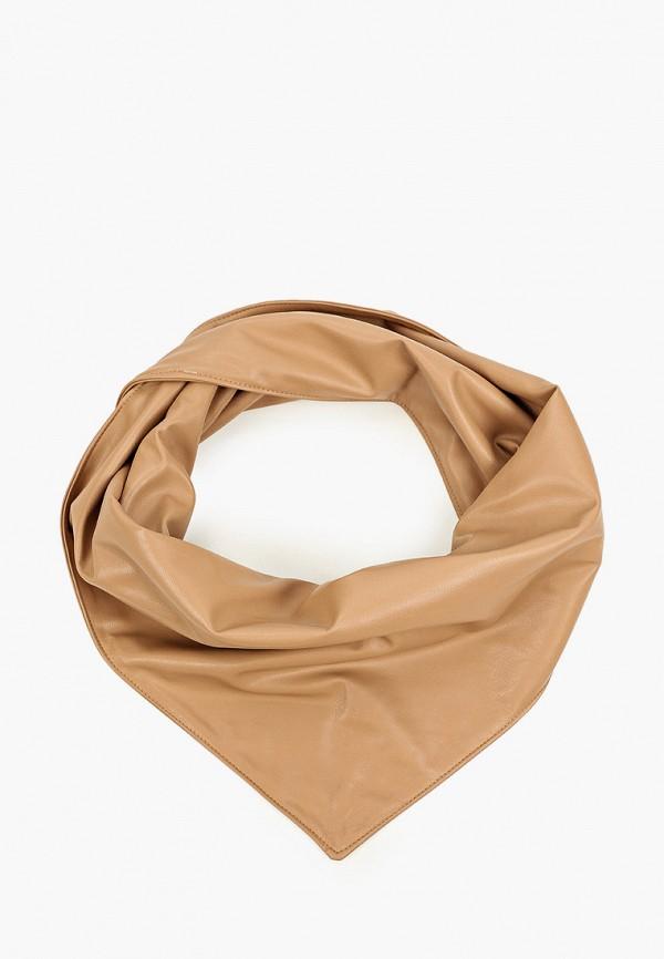 женский платок zolla, коричневый