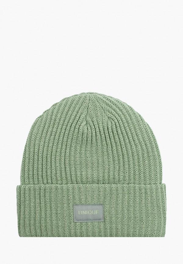 женская шапка zolla, зеленая