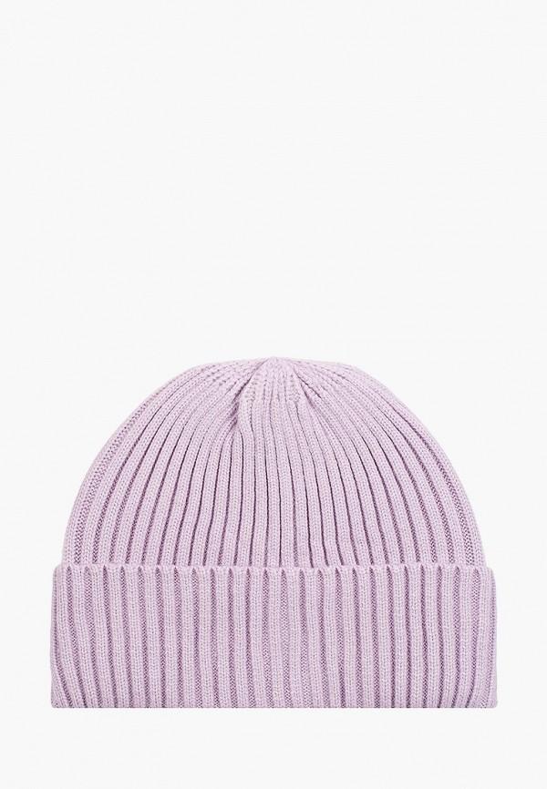 женская шапка zolla, фиолетовая