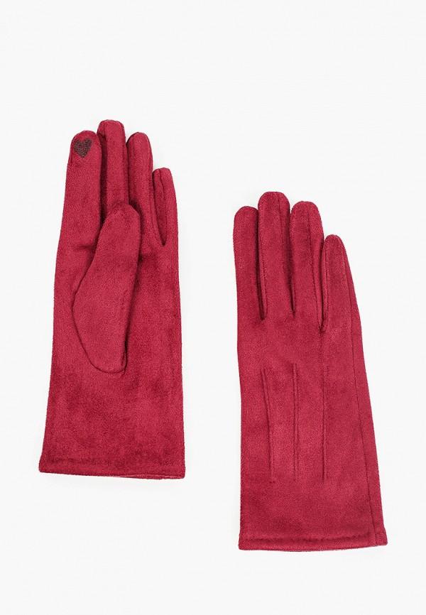 женские текстильные перчатки zolla, бордовые