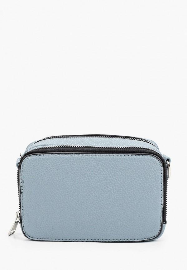 женская сумка через плечо zolla, голубая