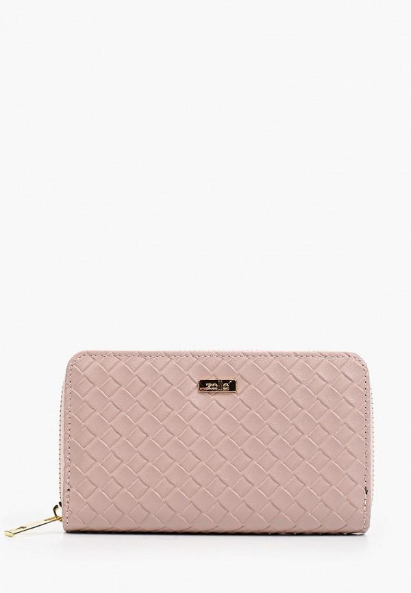 женский кошелёк zolla, розовый
