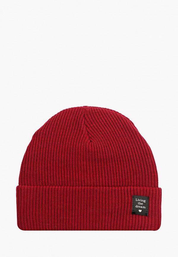 женская шапка zolla, бордовая