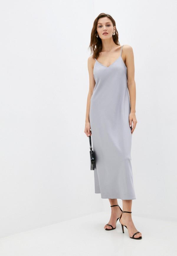 женское платье-комбинация снежная королева, серебряное