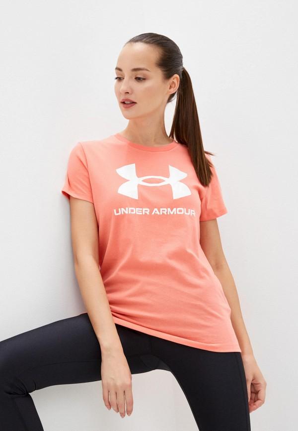 женская спортивные футболка under armour
