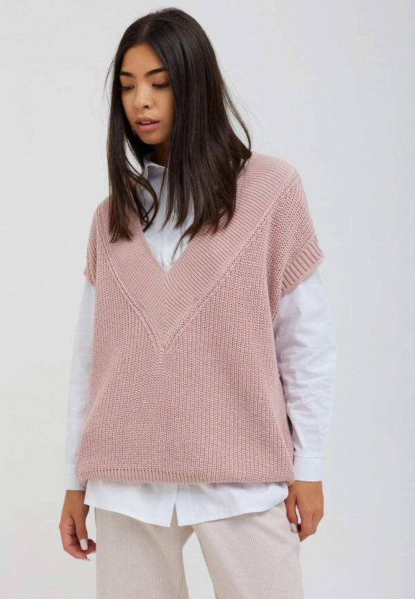женский жилет seventeen, розовый