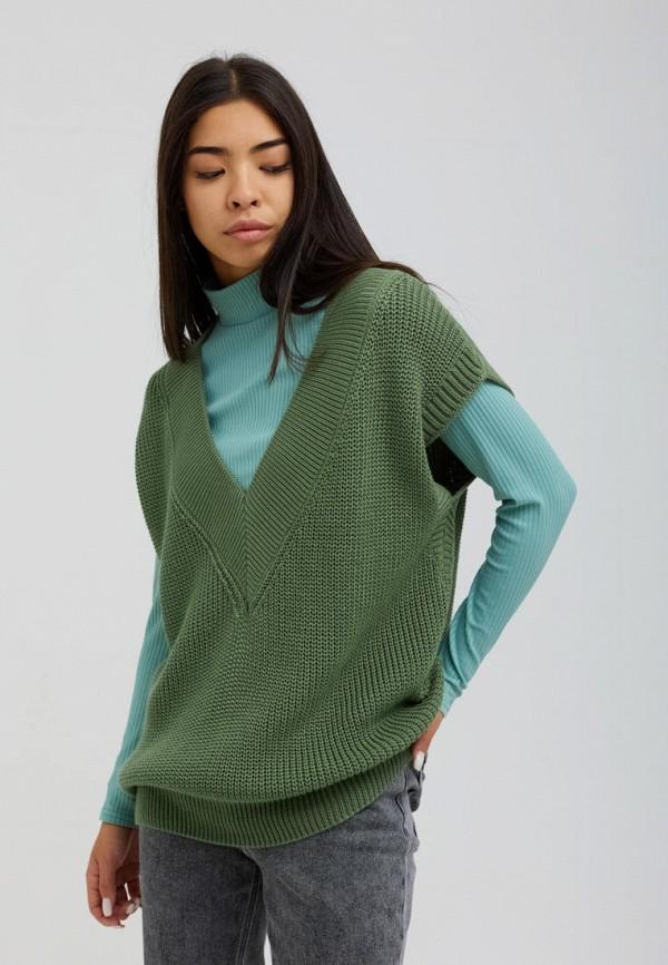 женский жилет seventeen, зеленый