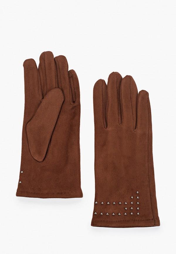 женские кожаные перчатки love republic, коричневые