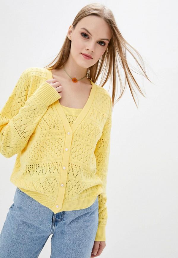 женский кардиган sewel, желтый