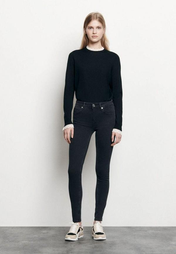 женские джинсы sandro, черные