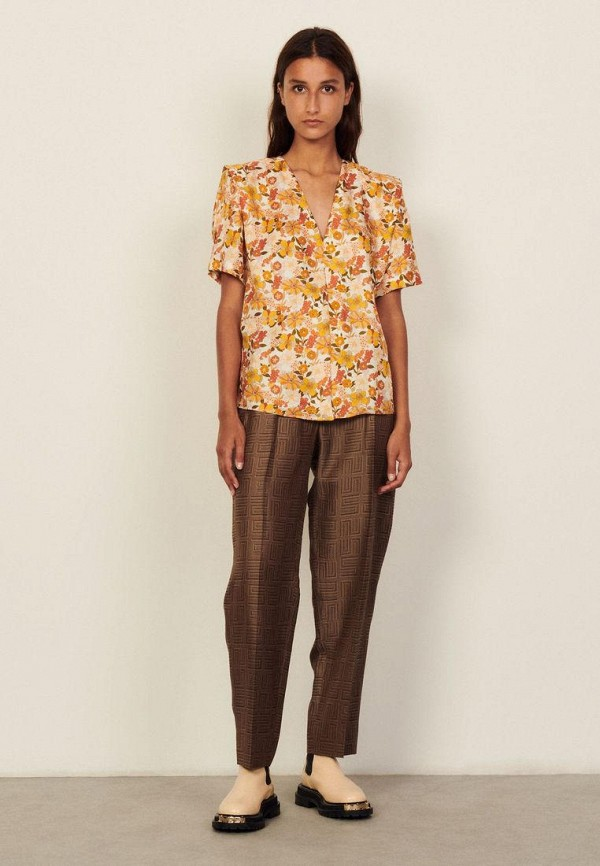 женская блузка sandro, желтая