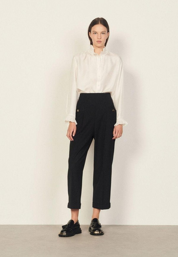 женские классические брюки sandro, черные