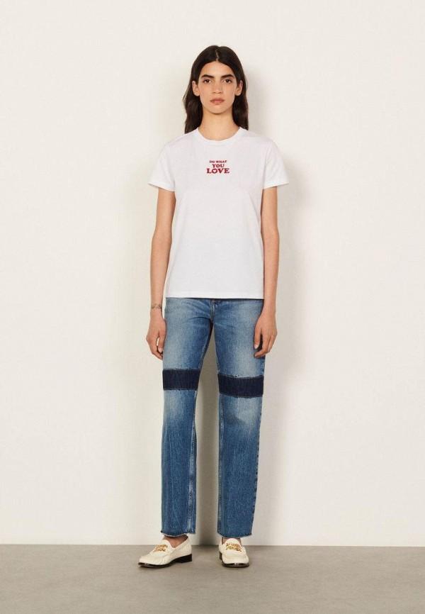 женская футболка sandro, белая