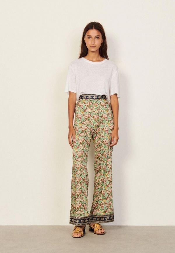 женские повседневные брюки sandro, хаки