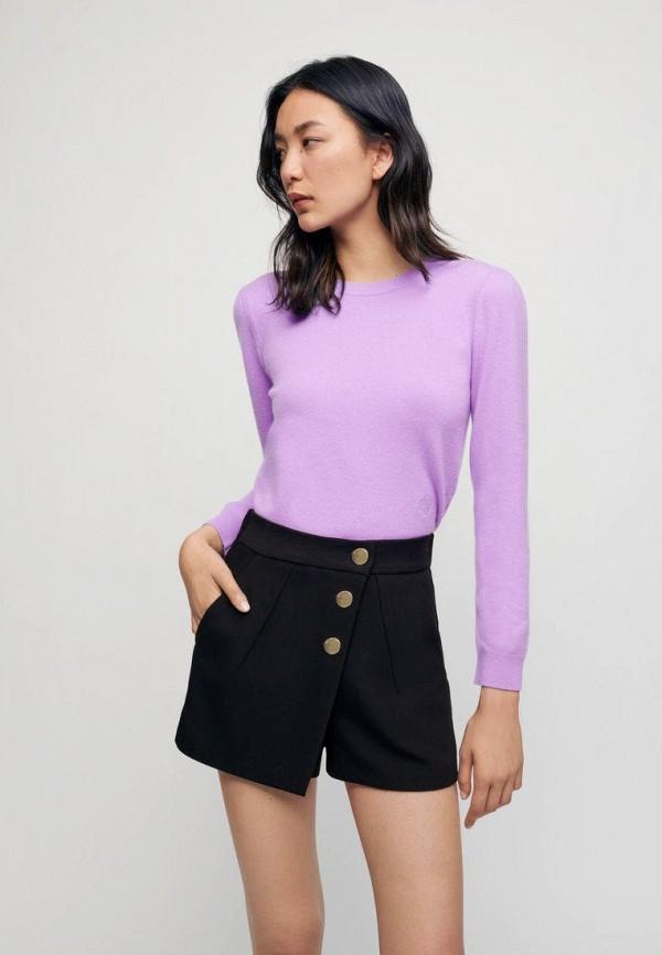женский джемпер maje, фиолетовый