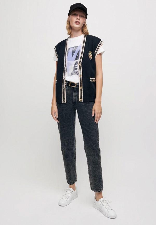 женские прямые джинсы maje, черные